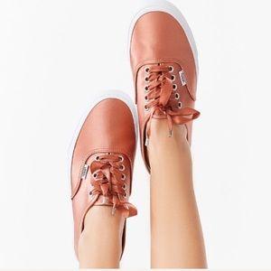 NWT Vans Authentic Satin Lux Rose Shoe W 9, M 7.5